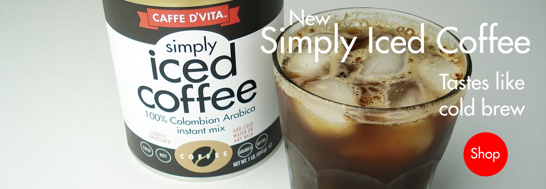 Home page banner for Simply Iced Coffee